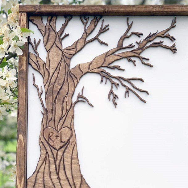 Wedding Guest Book Ideas Family Tree Inspiration