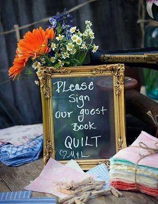 Wedding Guest Book Ideas Quilt Squares