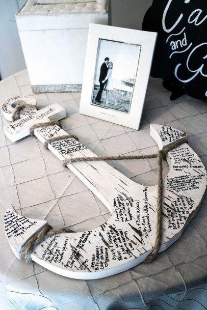 Wedding Guest Book Ideas Themed Wooden Anchor Inspiration