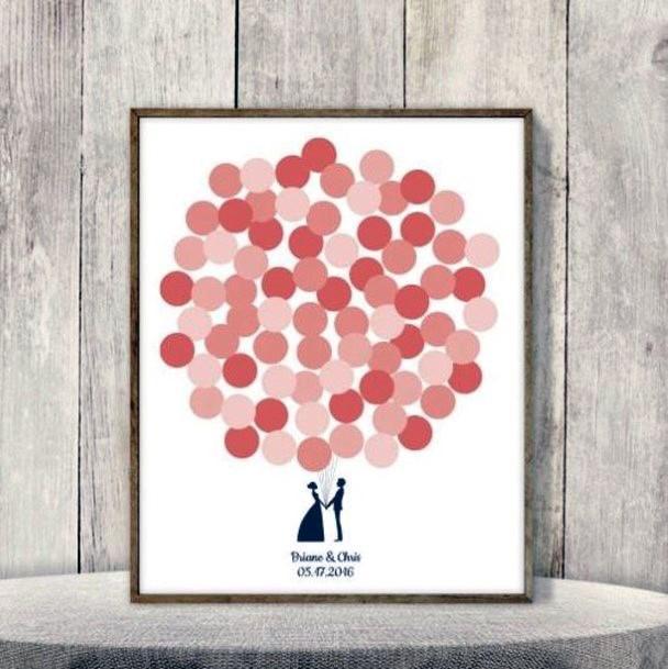 Wedding Guest Book Ideas Whimsical Balloon Prints