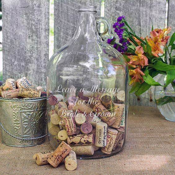 Wedding Guest Book Ideas Wine Corks In A Jug