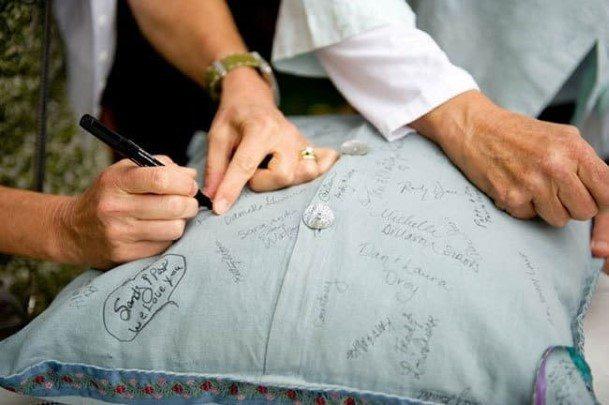 Wedding Guest Book Pillow