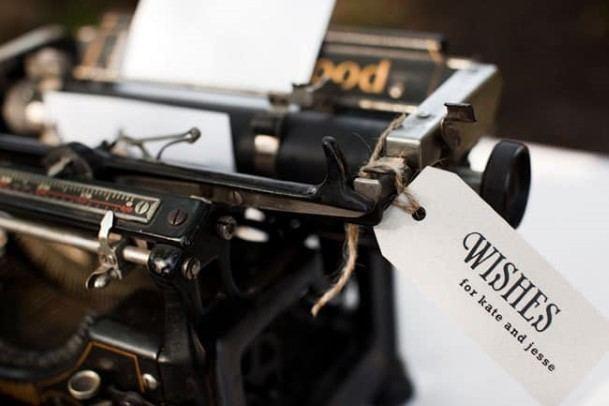 Wedding Guest Book Typewriter