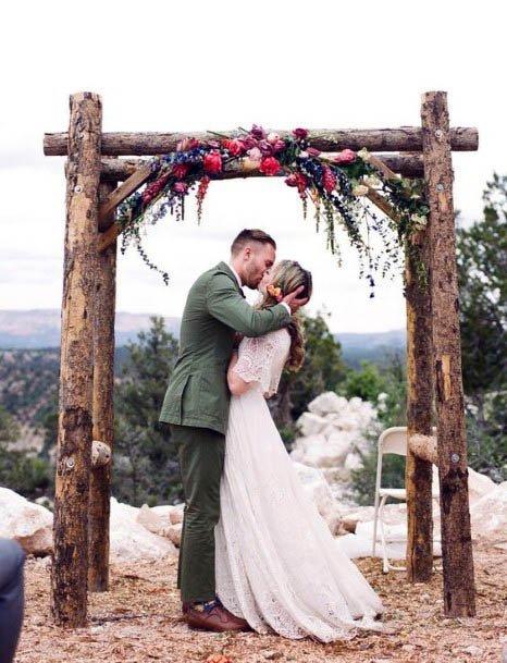 Wedding Platform With Rustic Flowers
