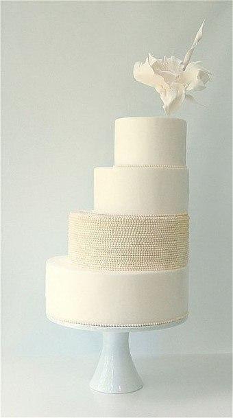 White And Creamwedding Cake Ideas
