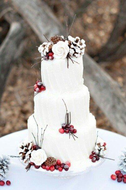 White And Redwedding Cake Ideas