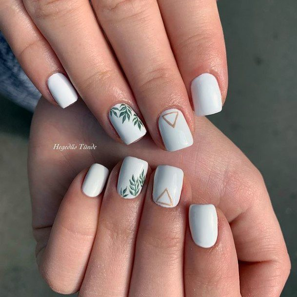White April Nails Women