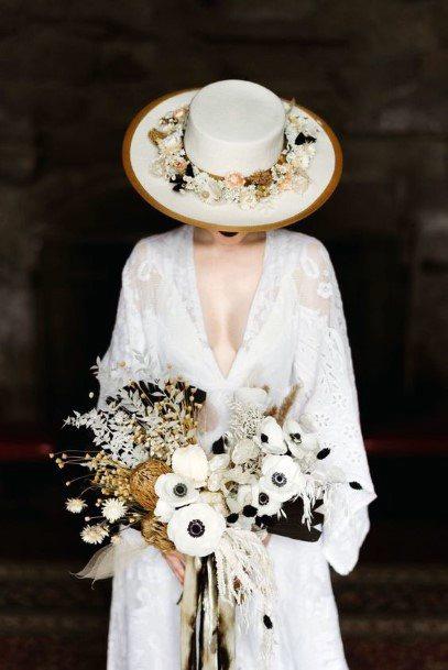 White Based Boho Wedding Flowers