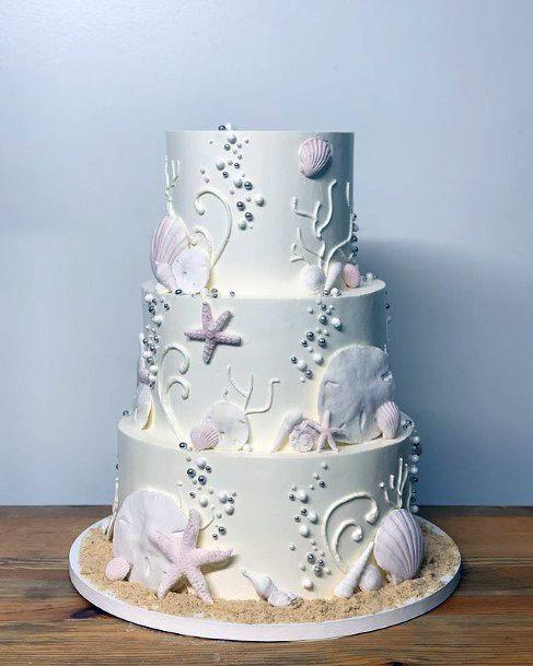 White Beach Wedding Cakes Women