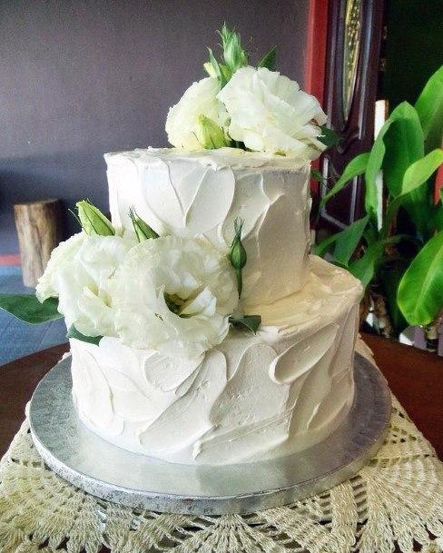 White Cream Red Velvet Wedding Cake