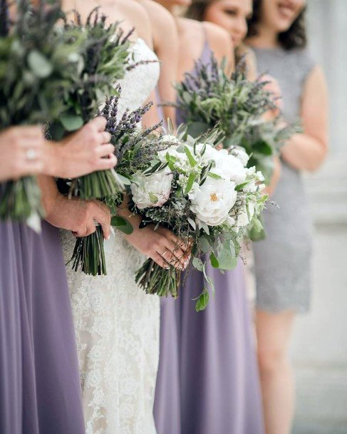 White Flowers And Lavender Themed Wedding