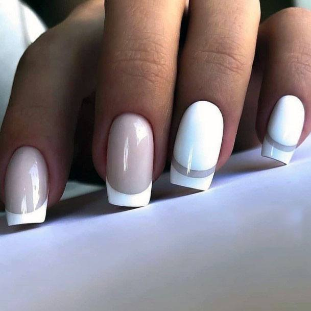 White Gel French Manicure For Women