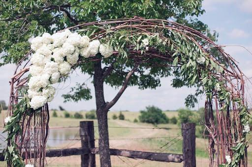 White Hydrangea Arch Wedding Flowers
