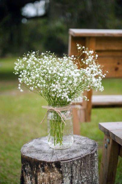 White Light Rustic Wedding Flowers