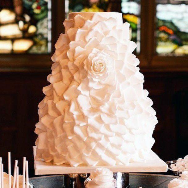 White Mountain Unique Wedding Cake