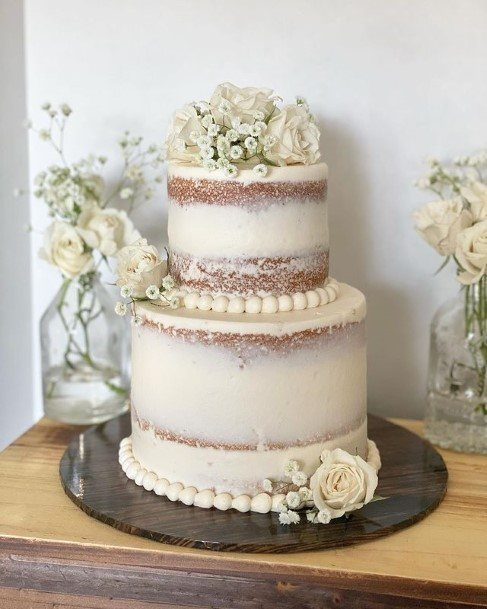 White Rustic Wedding Cake Toppers