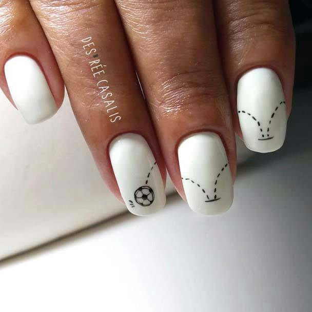 White Sport Nails For Women