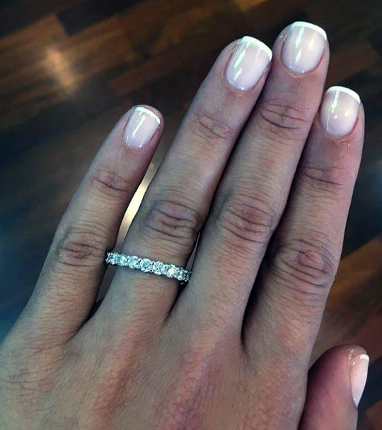 White Square Natural Ideas Nail For Women