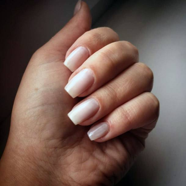 White Tinted Nude Nails