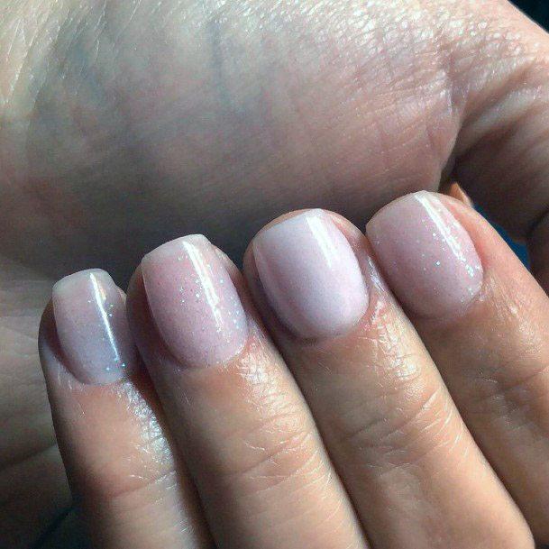 Whitish Pink Hued Short Nails Women