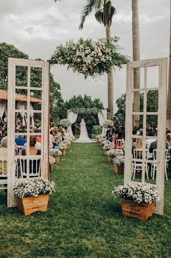 Window Panes Backyard Wedding Ideas