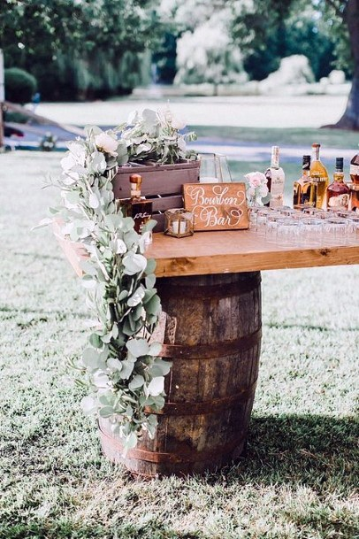Wine Barrel Table Inspiration Rustic Wedding Ideas