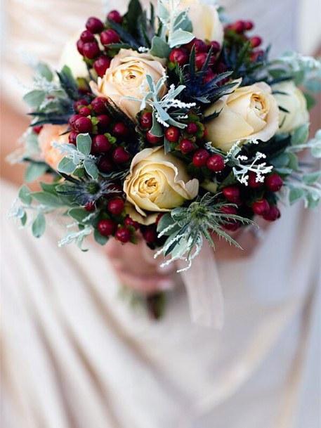 Winter Roses Christmas Wedding Flowers
