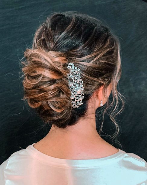 Wintry European Highlighted Style French Twist For Teenage Girls And Women