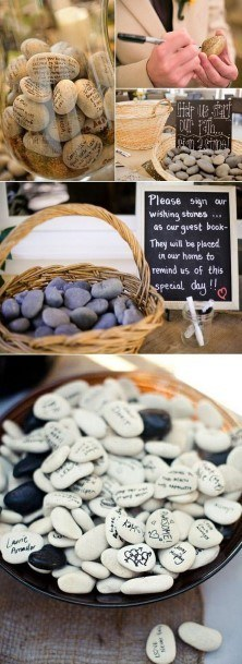 Wishing Stones Wedding Guest Book Ideas