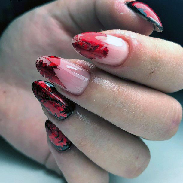 Witch Nails Black And Red Shellac For Women