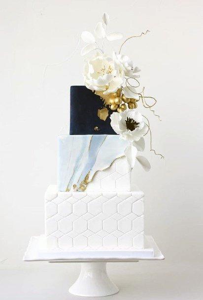 Womens 3 Tier Designer Wedding Cake