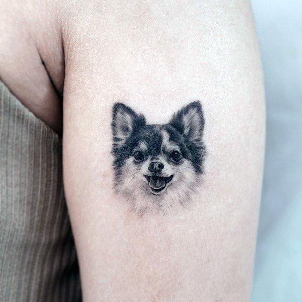 Womens Affectionate Dog Tattoo