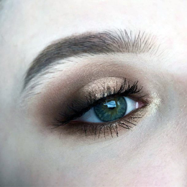 Womens Almost Real Gold And Brown Eyeshadow