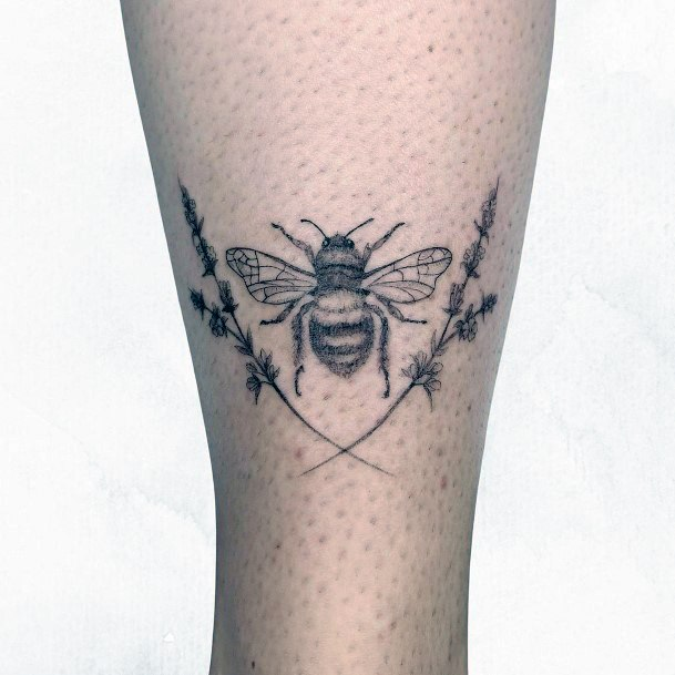 Womens Ankles Bees Tattoo