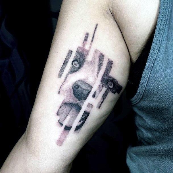 Womens Arms Dog Art Tattoo