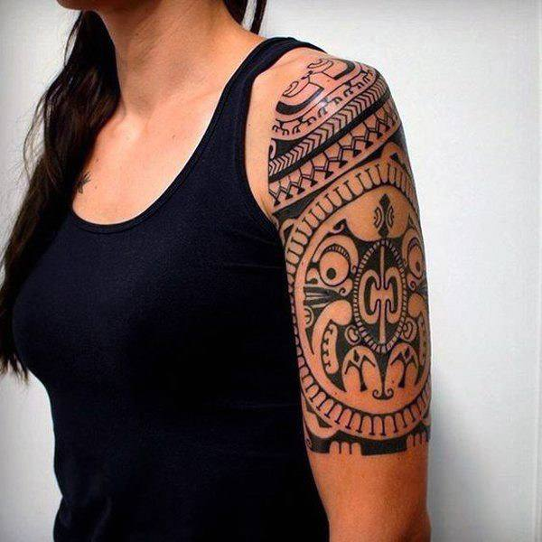 Womens Arms Lovely Tribal Tattoo