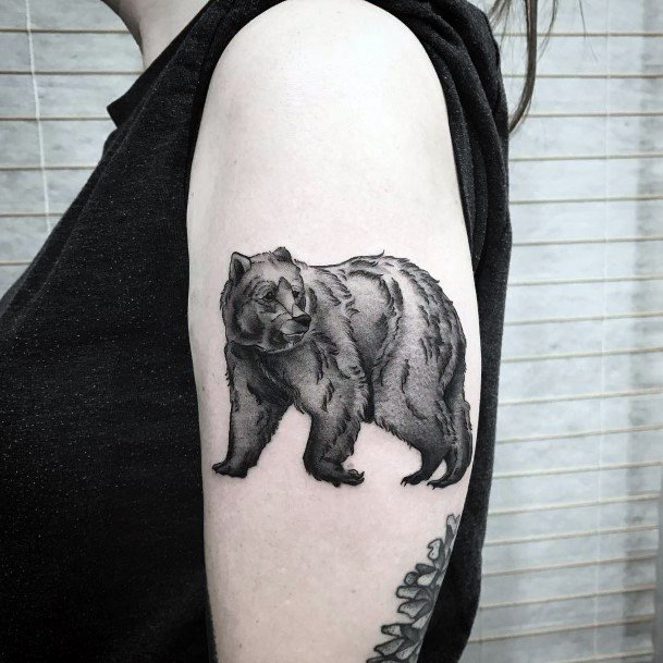 Womens Arms Mythical Bear Tattoo
