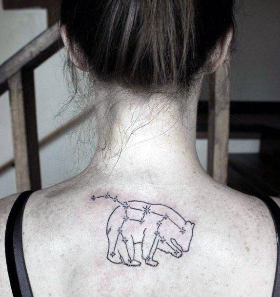 Womens Back Bear Tattoo