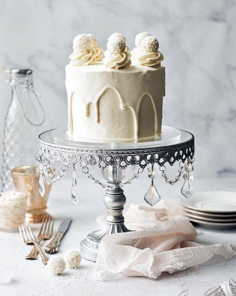 Womens Bejewelled Wedding Cake Stand