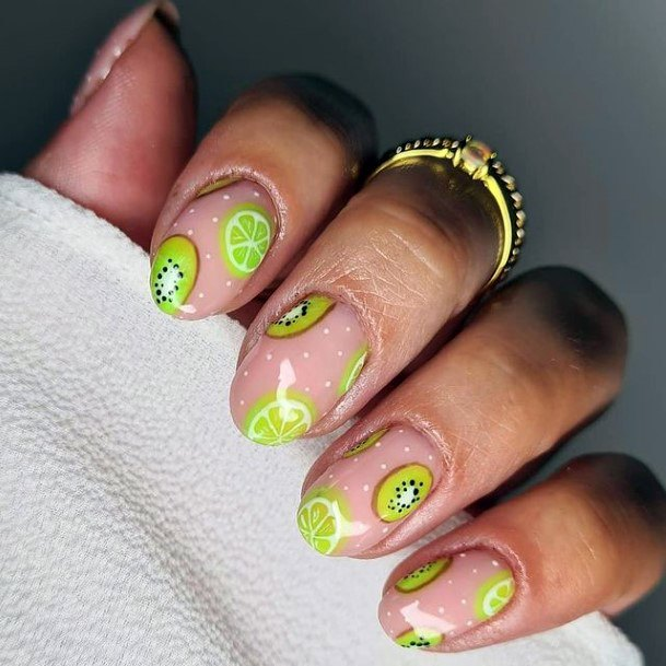 Womens Citrus Blast Kiwi Nails