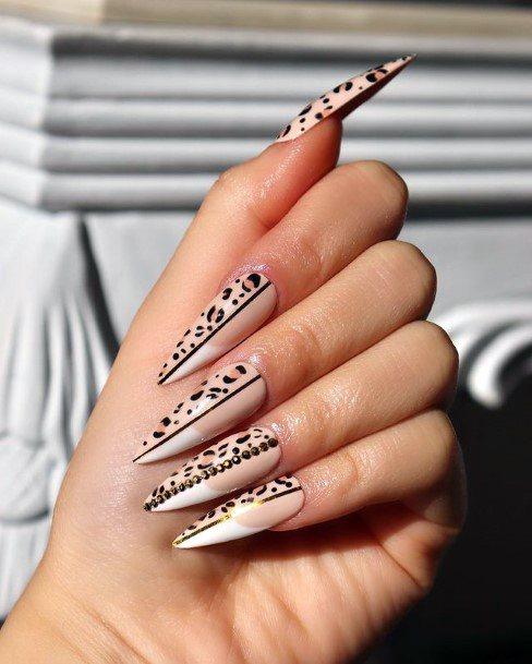 Womens Claw Nails Leopard Print