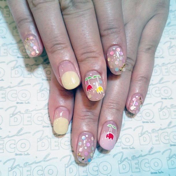 Womens Colorful April Nails