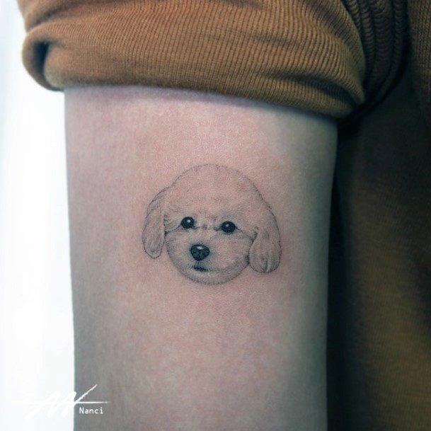 Womens Cute Dog Tattoo Arms
