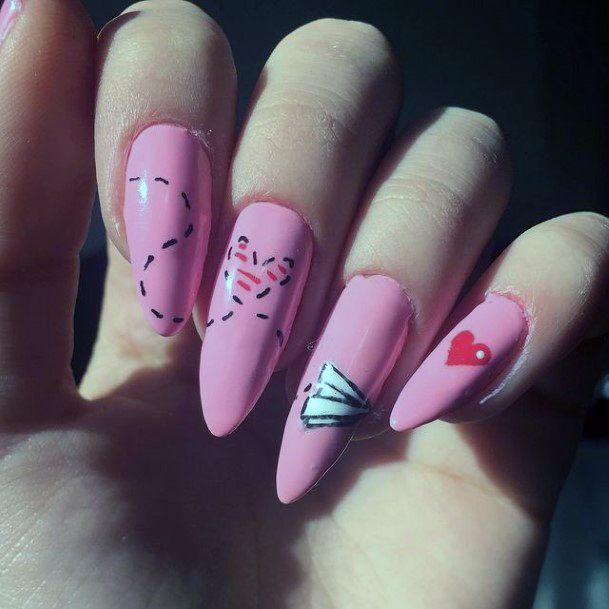 Womens Cute Romantic Nails
