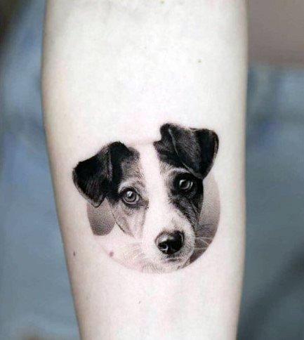 Womens Dog 3D Tattoo
