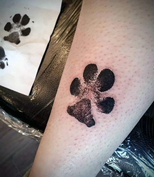 Womens Dog Paws Tattoo