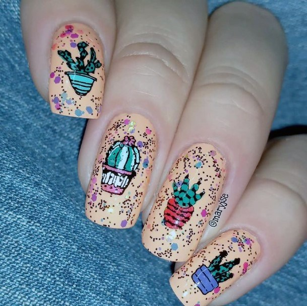 Womens Fab Cactus Nails