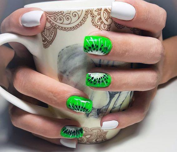 Womens Fantastic Kiwi Nails