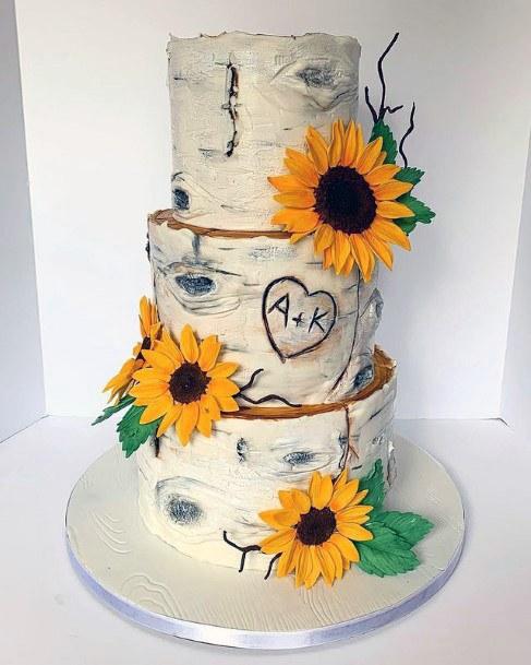 Womens Fantastic Sunflowers On Wedding Cakes