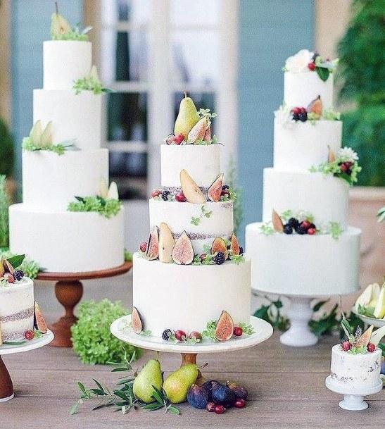 Womens Fruit Laden 3 Tier Wedding Cake
